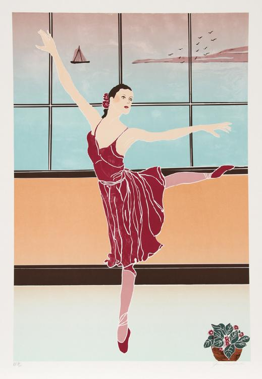 Gina Lombardi Bratter, Solitary Dancer, Lithograph