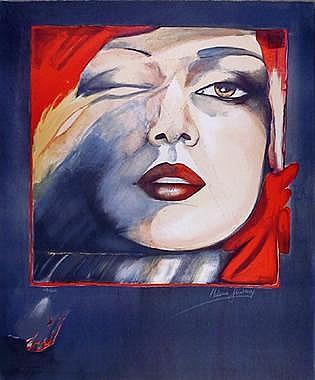 Helene Guetary, Self Portrait, Lithograph