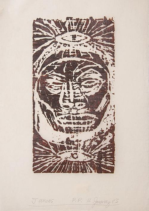 Claudio Juarez, Formas Incas, Aquatint Etching