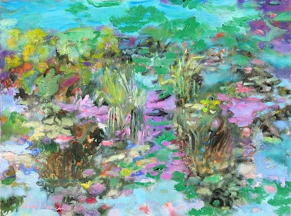 Isabel Gamerov, Waterlilies, Oil Painting