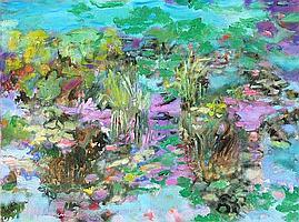 Isabel Gamerov, Waterlilies, Oil Painting