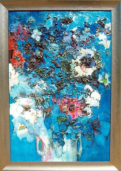 Florence Hasenflug, Floral Bouquet, Oil Painting