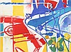Jasha Green, Lot of 2 Abstract Lithographs, Jasha Green, Click for value