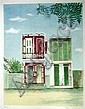 Mary Faulconer, Haitian Barback Shop, Lithograph, Mary Faulconer, Click for value