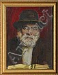 Sandu Liberman, Portrait of an Old Man, Oil Painting, Sandu Liberman, Click for value