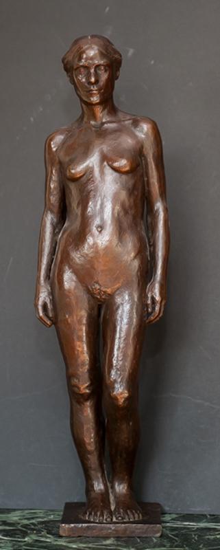 Diana Moore Beckman, Standing Nude Woman, Bronze Sculpture