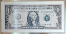 Robert Silvers, One Dollar Bill, Photomosaic on Aluminum