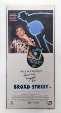 Paul McCartney's Give My Regards to Broad Street, Movie Poster