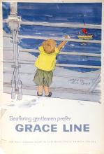 Seafaring Gentlemen Prefer Grace Line, Travel Poster