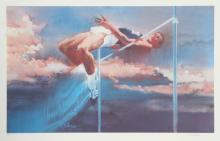 Robert Peak, High Jump from the Visions of Gold Olympic Portfolio, Lithograph