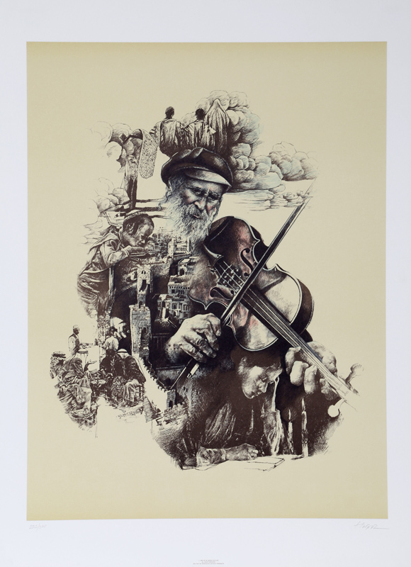 Ari Harpaz, Fiddler on the Roof, Lithograph