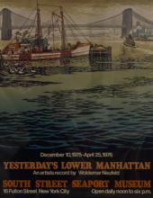 Woldemar Neufeld, Yesterday's Lower Manhattan - South Street Seaport Museum, Poster