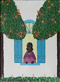Rodolpho Tamanini Netto, Woman at window, Oil Painting
