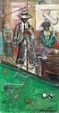 Andrew Turner, Pool Shark, Oil Painting, Andrew Turner, Click for value