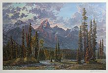 Hall Diteman, For Purple Mountain's Majesty, Offset Lithograph