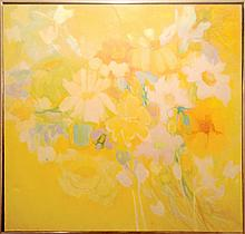Florence Hasenflug, April Flowers, Oil Painting