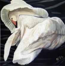 Gary Paul McElrath, Sleeping Swan, Acrylic Painting