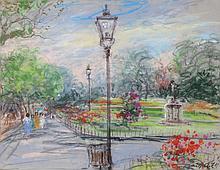 Kamil Kubik, Central Park, Pastel Drawing
