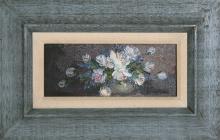 Robert Cox, Blue Flowers, Oil Painting