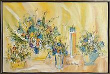 Susan Pear Meisel, Flowers 2, Oil Painting