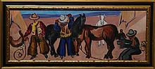 Ben Benn, Cowboys, Oil Painting
