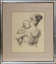 Lila Copeland, Mother and Child, Lithograph