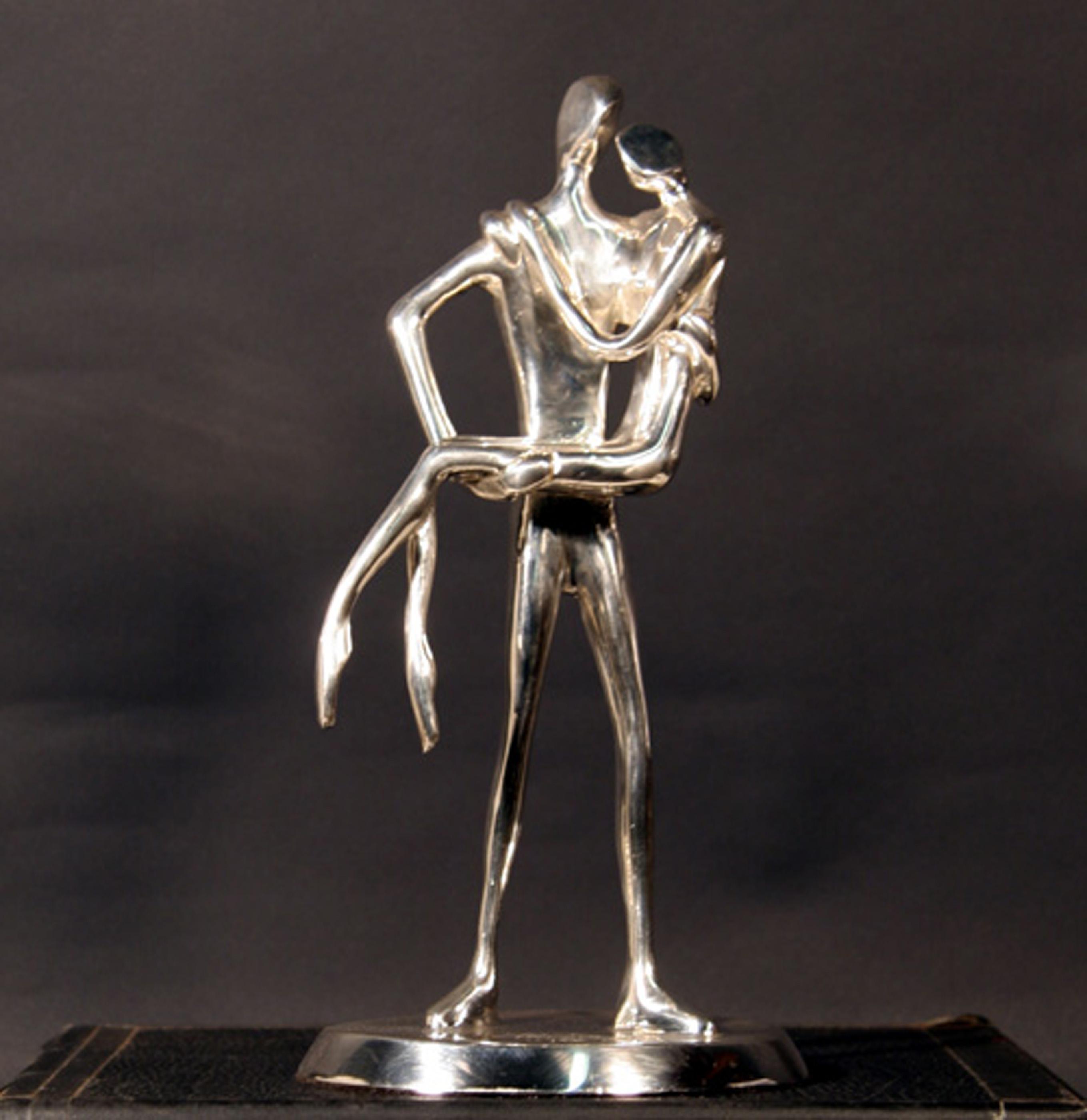 Jose Almanzor, Noche de Bodas (Silver), Bronze Sculpture with silver plating