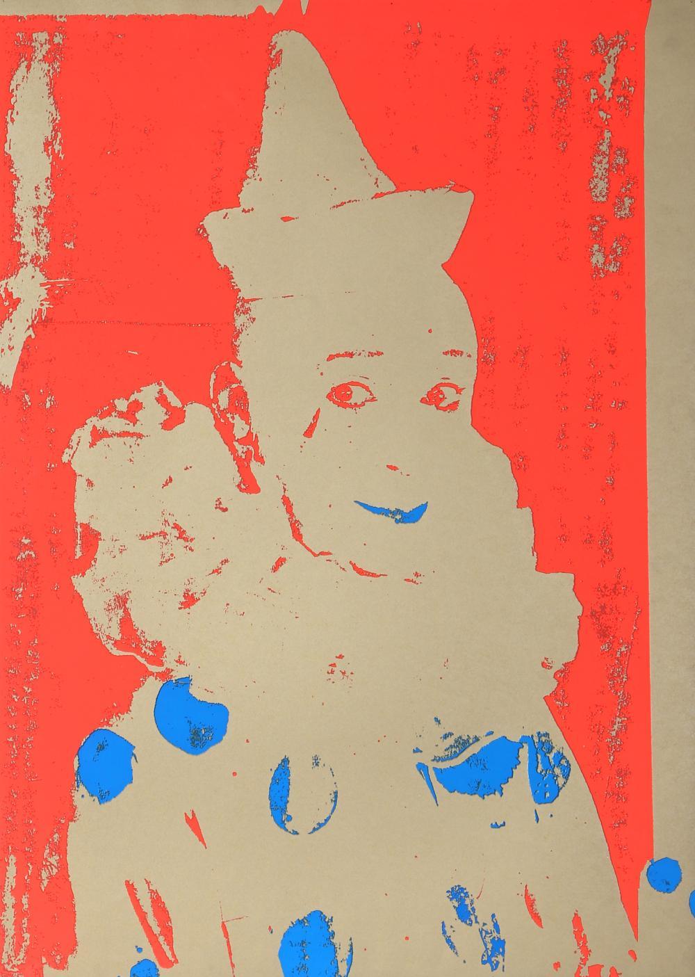 Ford Beckman, Neon Clown (Red with Blue), Silkscreen