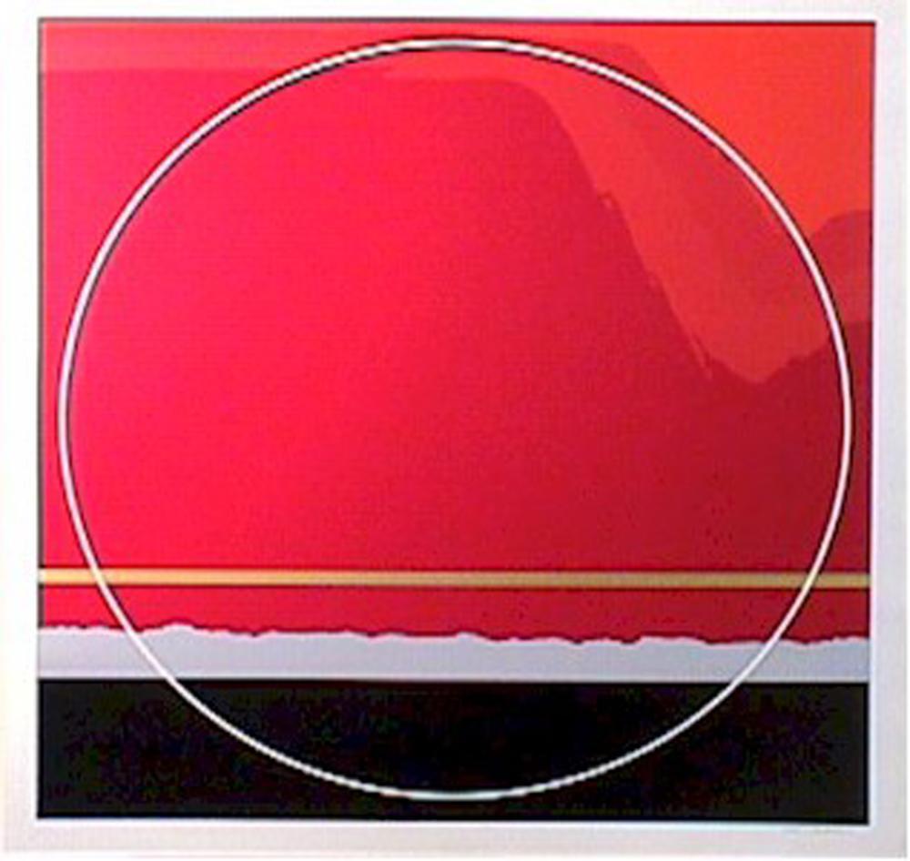 Thomas W. Benton, Red Landscape, Silkscreen