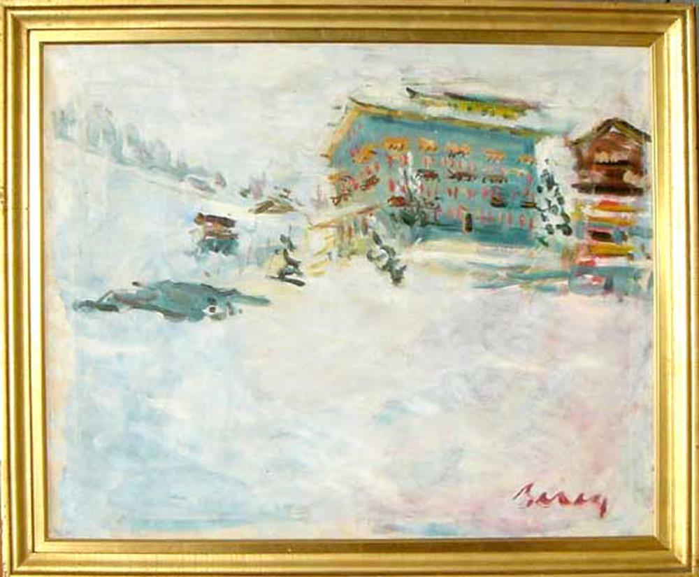 Dimitrie Berea, Landscape in Switzerland, Oil Painting