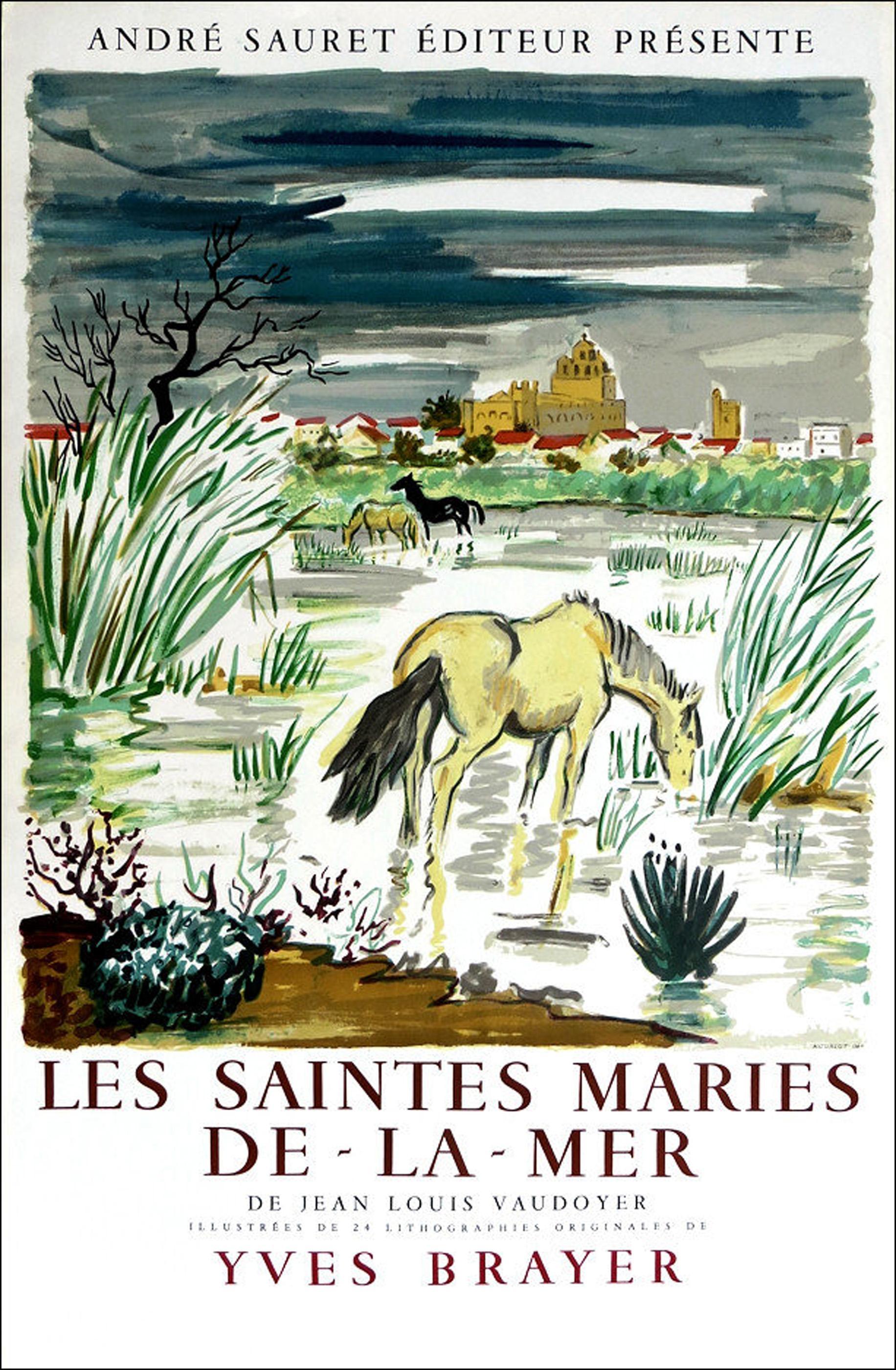 Yves Brayer, Les Saintes Maries de la Mer Exhibition, Lithograph Poster
