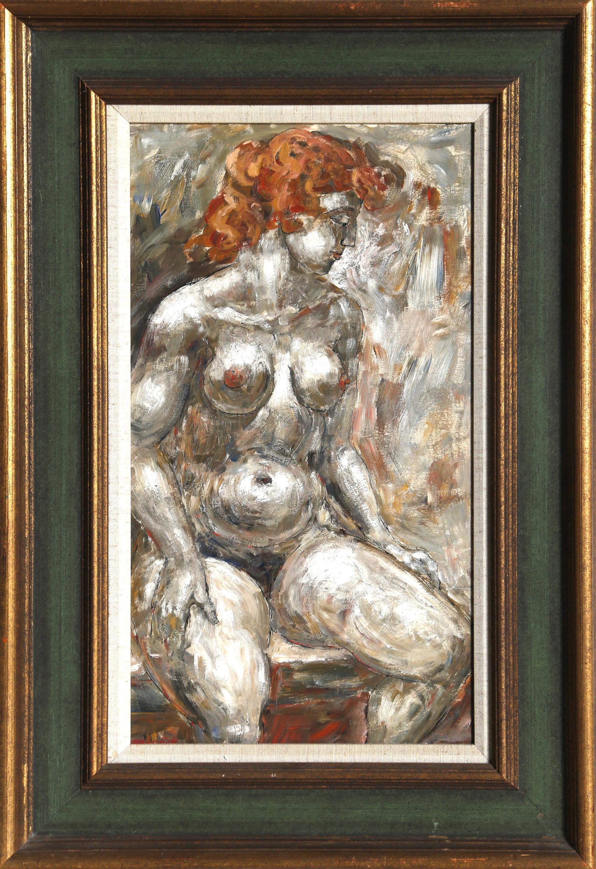 Charles Burdick, Nude (Red Hair), Oil Painting