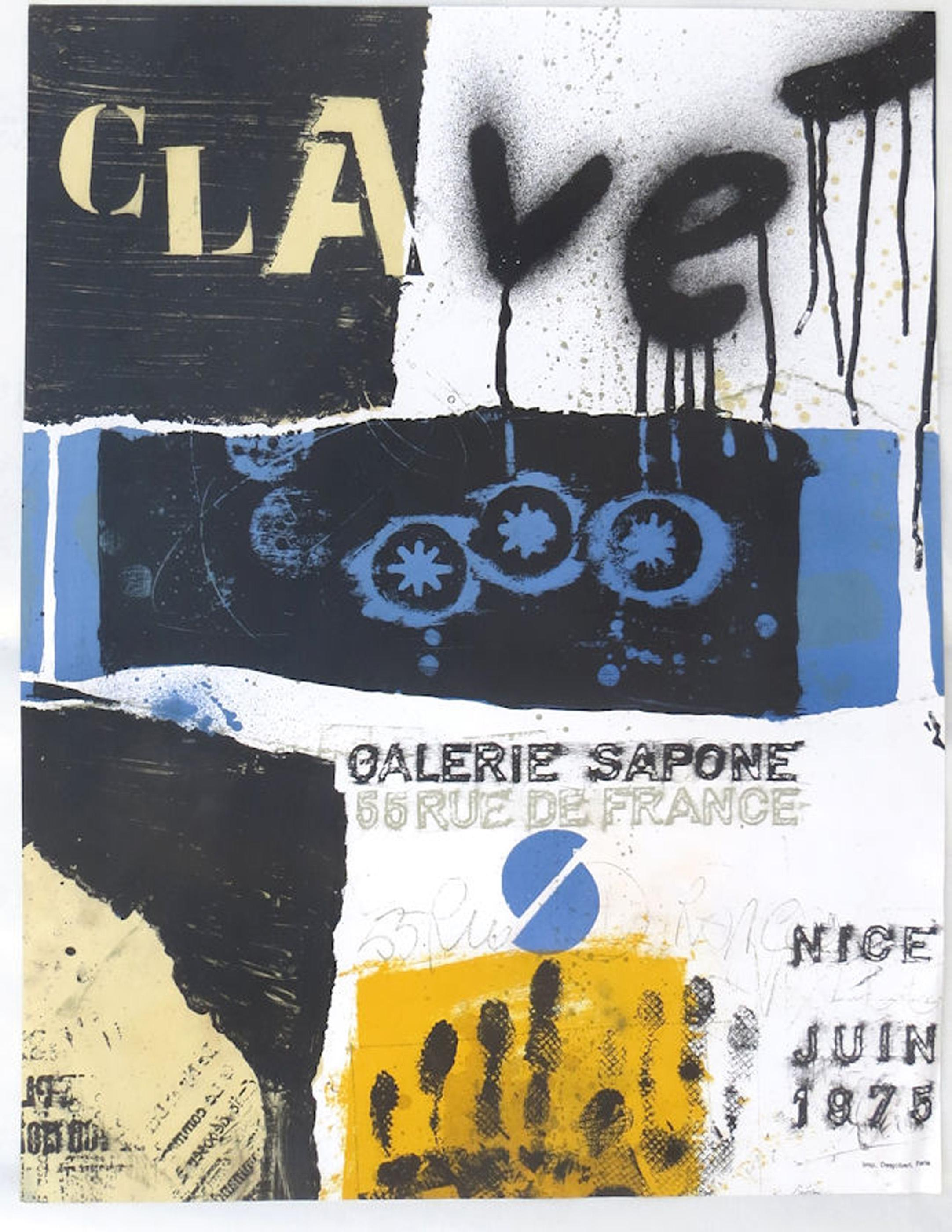 Antoni Clave, Galerie Sapone Exhibition, Lithograph Poster
