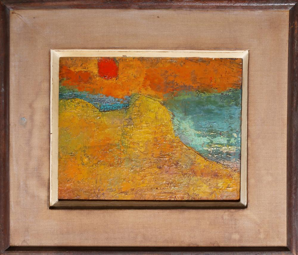 Miriam Bromberg, Abstract Landscape, Oil Painting