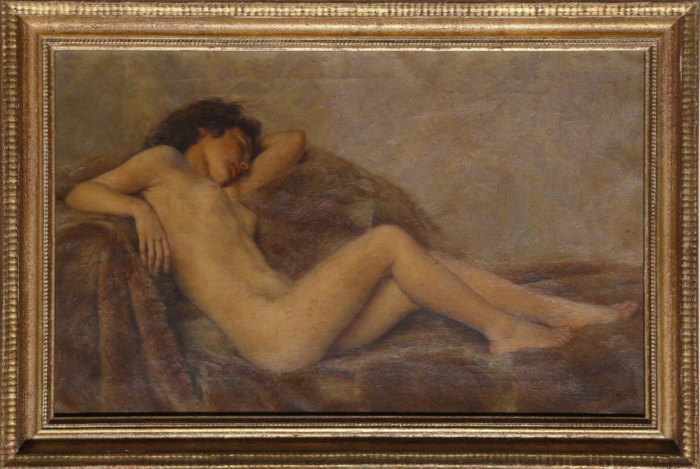 Paul Sieffert, Reclining Nude, Oil Painting