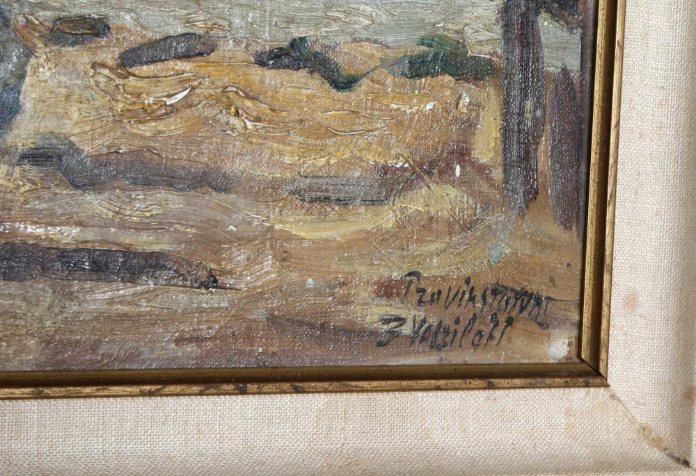 Boris Vasiloff, Tzavikstaturt (Boat Docks), Oil Painting