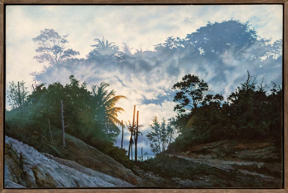 Ian Hornak, Hannah's Mirror, Variation #3 : The expulsion from Eden, Oil Painting
