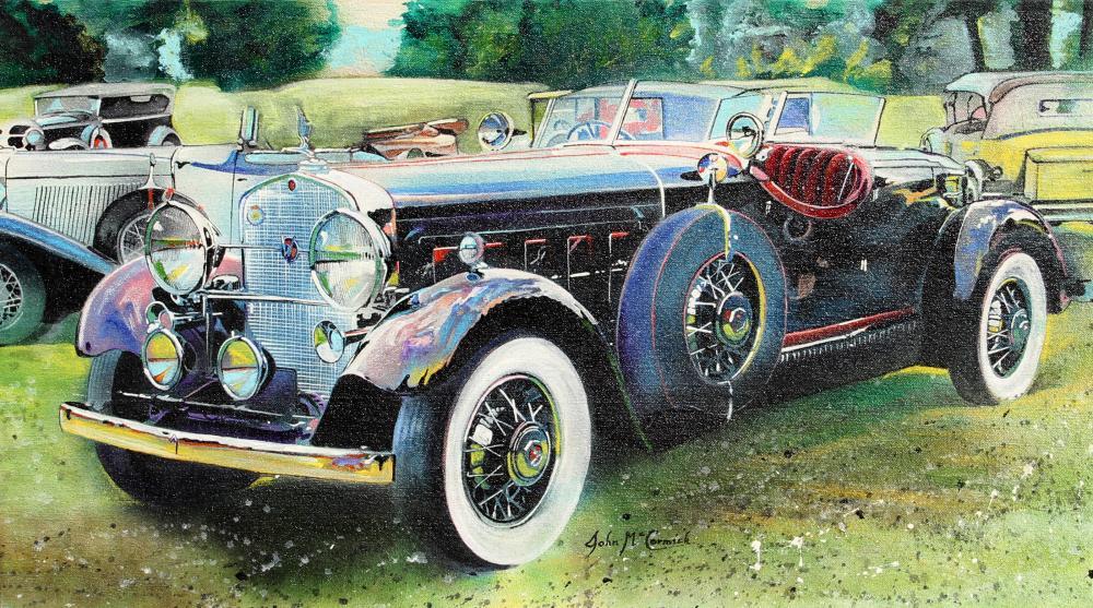 John McCormick, Rolls Royce, Oil Painting