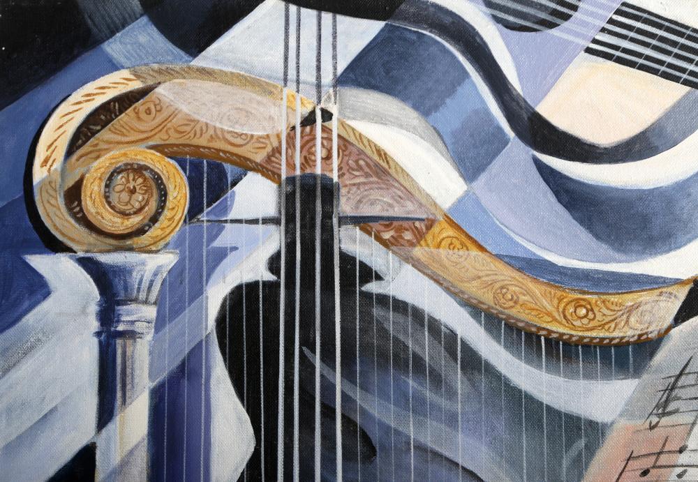 Erik Freyman, Soft Tune, Acrylic Painting