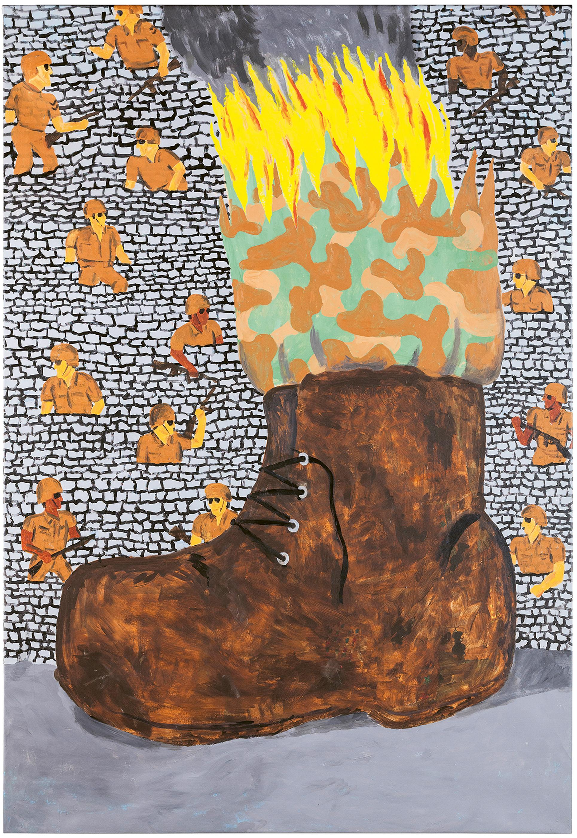 Seymour Chwast, Boot, Acrylic Painting