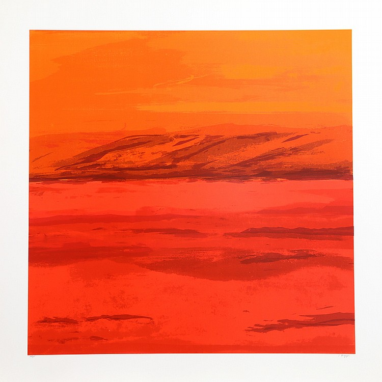 Joseph Grippi, Red Orange, Silkscreen