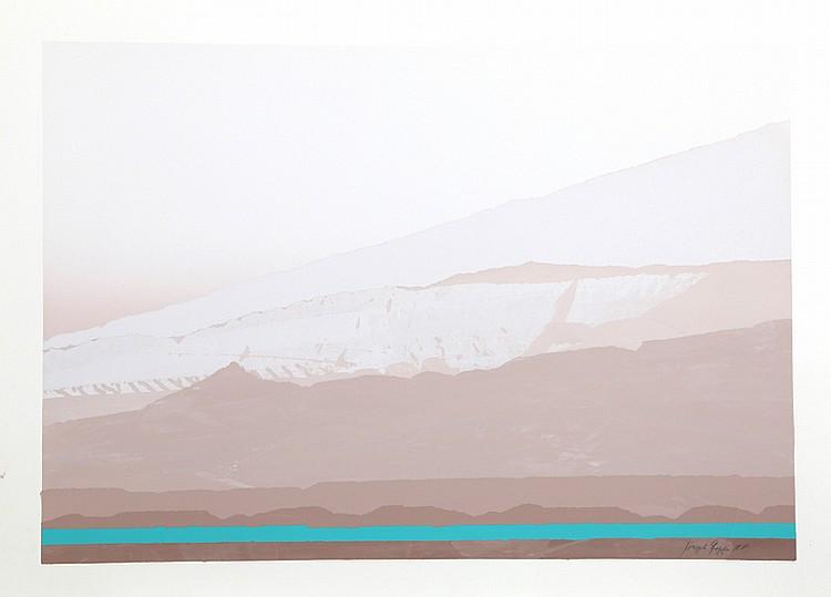 Joseph Grippi, Tan Landscape, Silkscreen