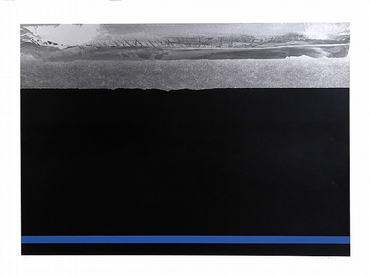 Joseph Grippi, Night Landscape with Silver, Silkscreen
