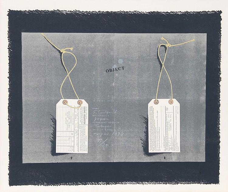 Shigeru Taniguchi, Entry Form, Silkscreen