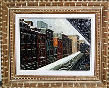 Jack Prudnikov, The El Station, Oil Painting