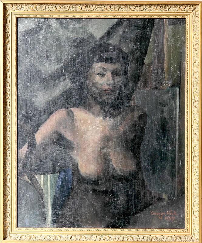 George Nick, Nude, Oil Painting