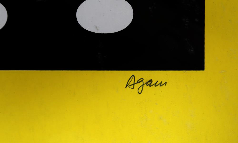 Yaacov Agam, Menorah Series 4, Screenprint
