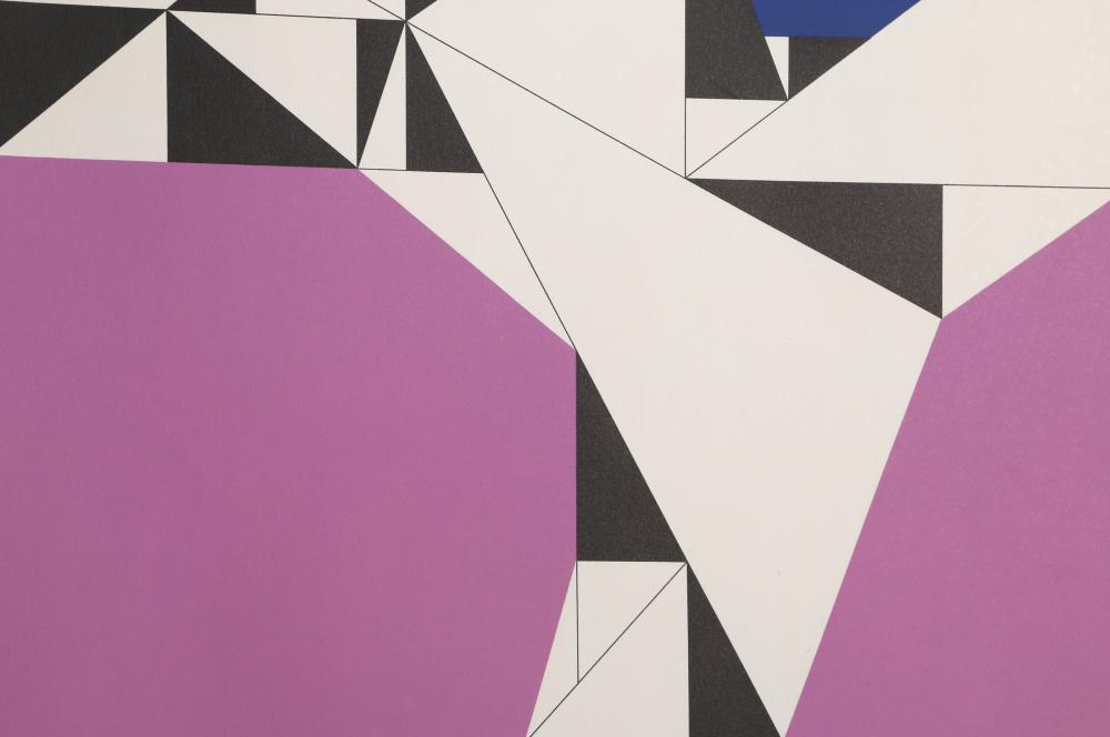 Walter Allner, Geometric Abstract in Purple, Screenprint