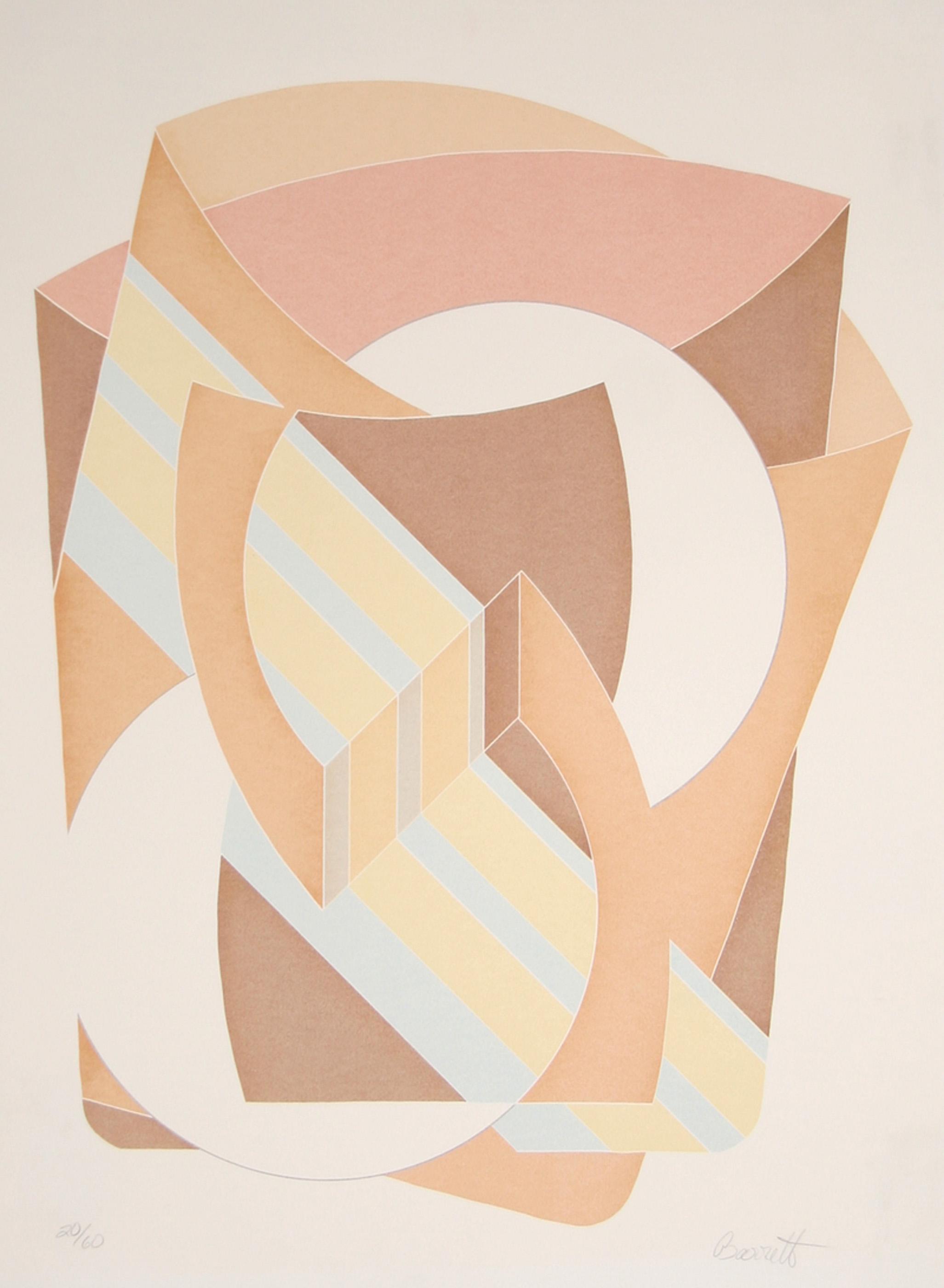 Thomas Barrett, Geometric Sunrise, Lithograph