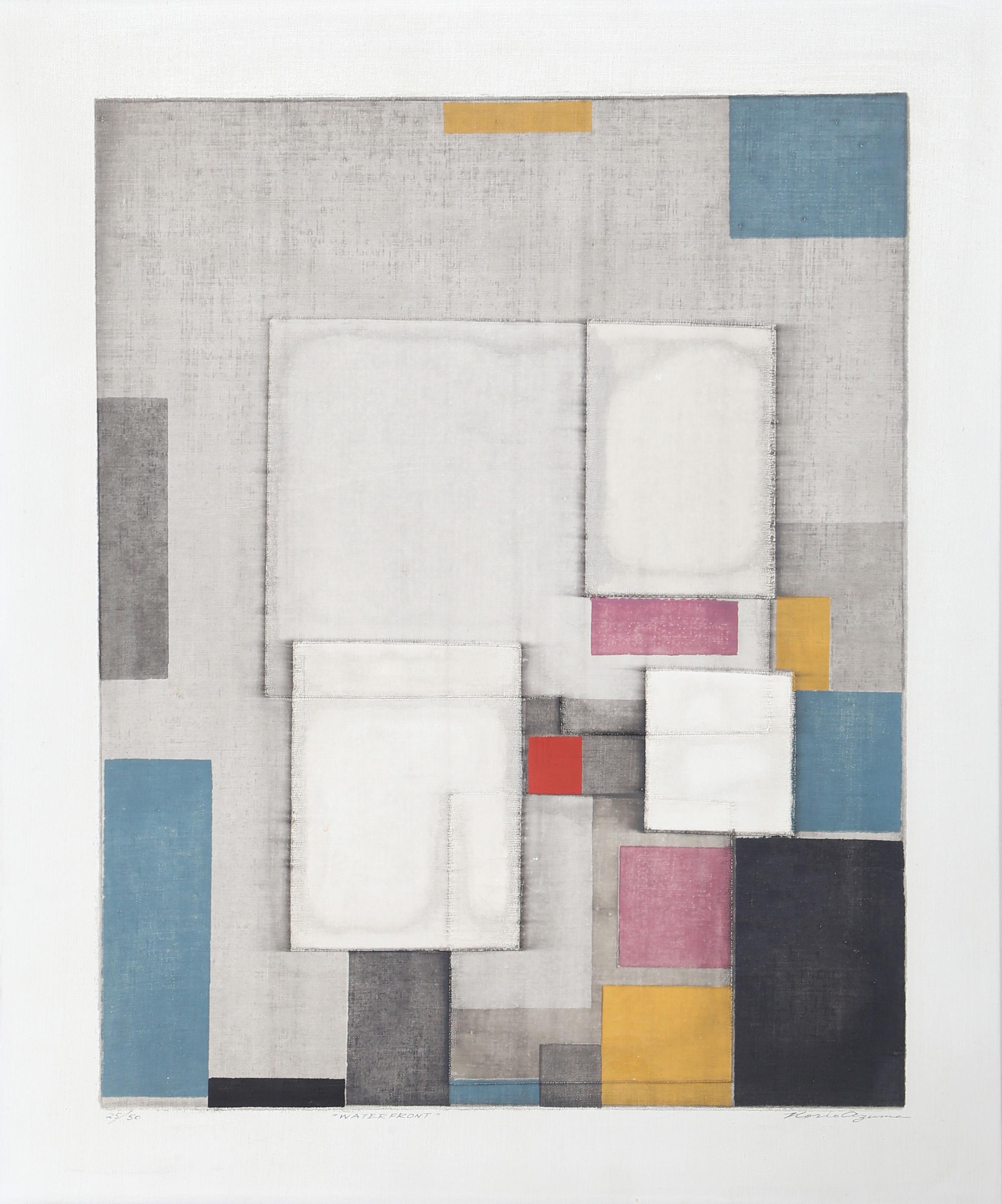 Norio Azuma, Waterfront, Screenprint on canvas